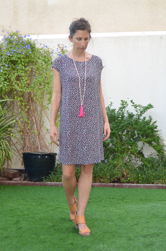 Classic Shift Dress (Longer) - Grey Pebble