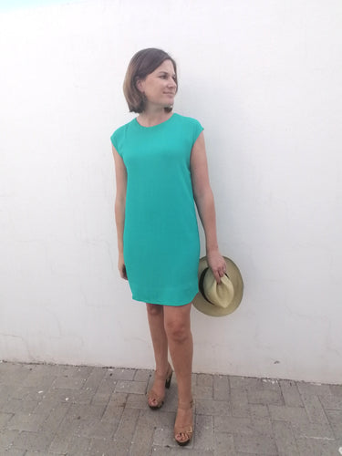 Classic Shift Dress (Longer Length) - Emerald
