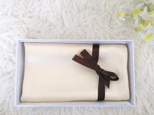 Pure Silk Pillowcase - Warm Ivory