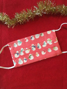 Christmas Cheer cotton Face Cover with pocket - Various prints