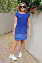 Load image into Gallery viewer, Classic Shift dress - Blue Dash