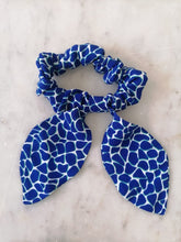 Load image into Gallery viewer, Bow Scrunchie - Electric Blue Pebble