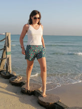 Load image into Gallery viewer, Adriana Shorts - Teal geo