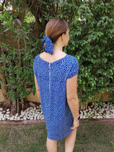 Classic Shift Dress - Electric Blue Pebble