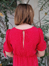 Florence Dress - Red Polka dot