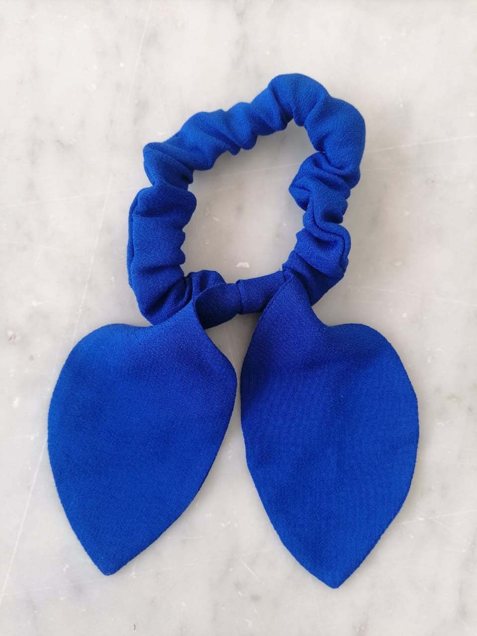 Bow Scrunchie - Electric Blue