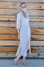 Load image into Gallery viewer, Alexandria shirt dress - White Check
