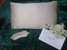 Load image into Gallery viewer, Pure Silk Eye Mask - Pearl White