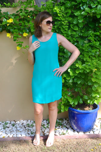 Sleeveless Shift Dress - Emerald
