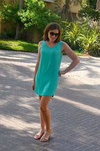 Load image into Gallery viewer, Sleeveless Shift Dress - Aqua