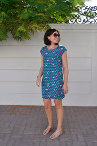 Classic Shift dress (Longer Length) - Teal