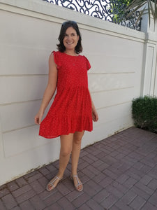 Adelaide Dress - Red Hearts