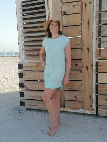 Classic Shift Dress - Aqua Capri