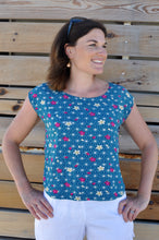 Load image into Gallery viewer, Classic T top - Teal Geo