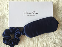 Load image into Gallery viewer, Pure Silk Eye Mask - Navy Blue