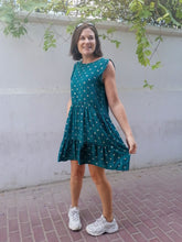 Load image into Gallery viewer, Adelaide Dress - Green Gingham with Gold!