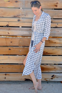Alexandria shirt dress - White Check