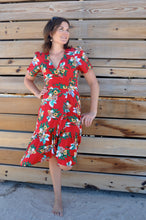 Load image into Gallery viewer, Madison wrap Dress - Red Floral