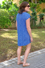 Load image into Gallery viewer, Classic Shift Dress - Electric Blue Pebble
