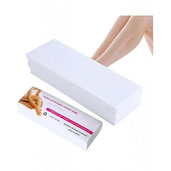 100 Hair Removal Depilatory Wax Strip Nonwoven Epilator Paper Waxing Tajori
