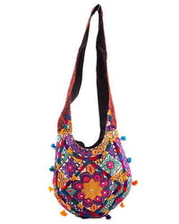 11x28''-Hand Embroided Classy Apple-Shaped Bag Tajori