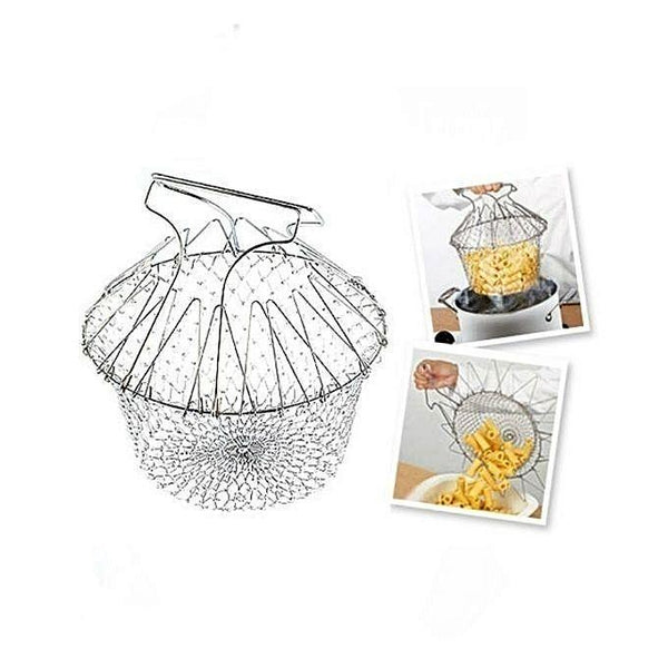 12 In 1 Kitchen Tool Chef Basket - Silver Tajori