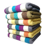 12 Pcs Strip Square Face Towels Tajori