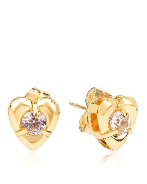18-K Gold Plated Earring 24556 Tajori