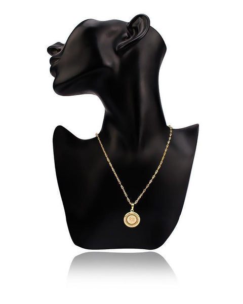 18-K Gold Plated Pendant & Chain 30871 Tajori