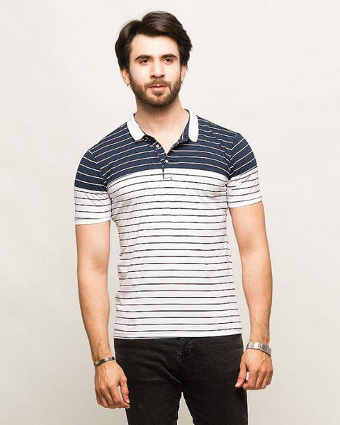 2 Color Striped T-Shirt Tajori