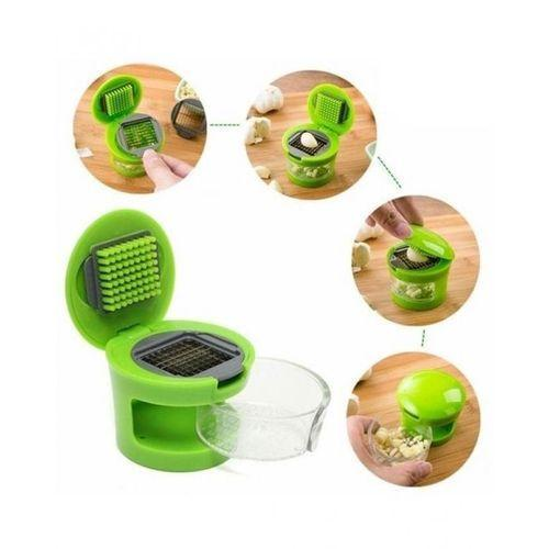 2-in-1 - Garlic Slicer, Dicer & Chopper - Green Tajori