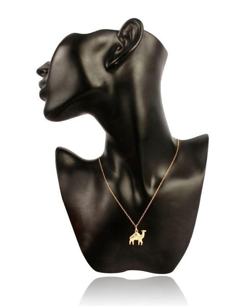 24-K Gold Plated Chain with Golden Camel Pendant Tajori