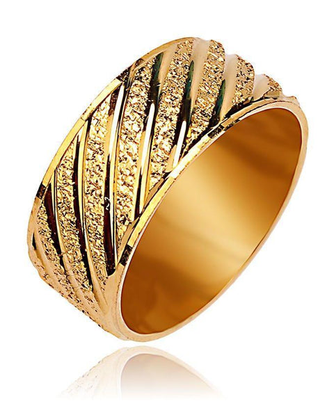 24-K Gold Plated Stylish Ring - 11665 Tajori