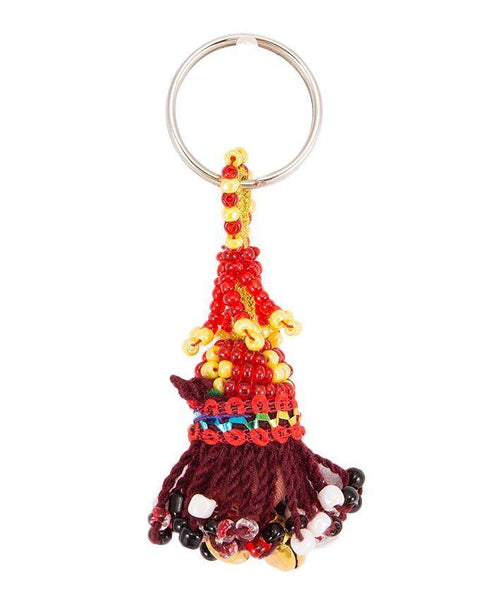 2x1''-Beaded Bells Key Chain Tajori