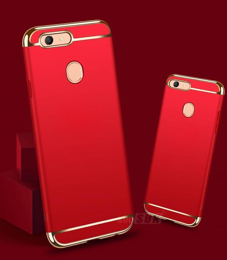promo code d0466 42ec9 3 In 1 Protective Case For OPPO F7 - Red & Gold