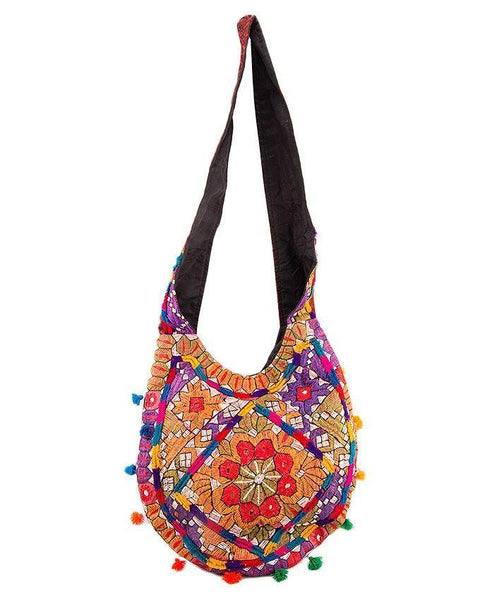 32x14''-Hand Embroided Classic Purse Tajori
