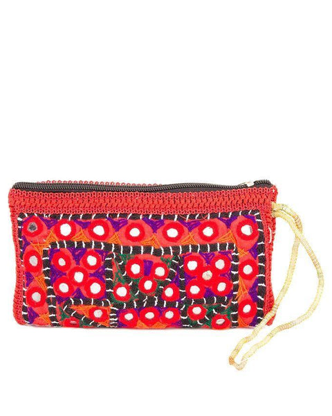 4x7''-Hand Embroided & Mirror Work Clutch Tajori