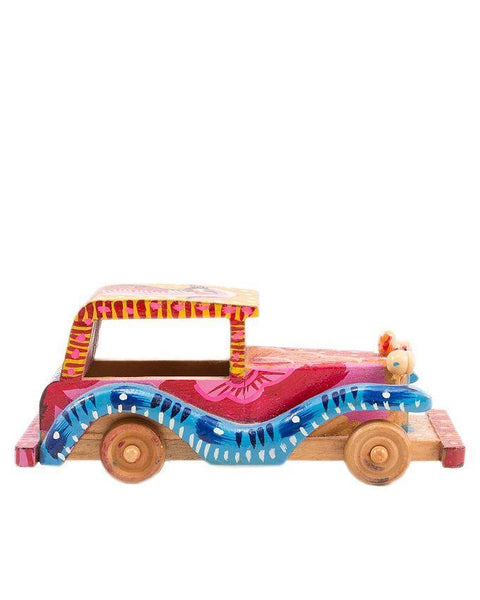 6x2x2''-Hand-Painted Wooden Classic Car Decoration Piece Tajori