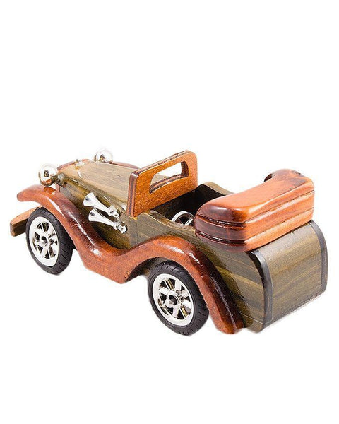 8x4x2''-Vintage Wooden Classic Car Decoration Piece Tajori