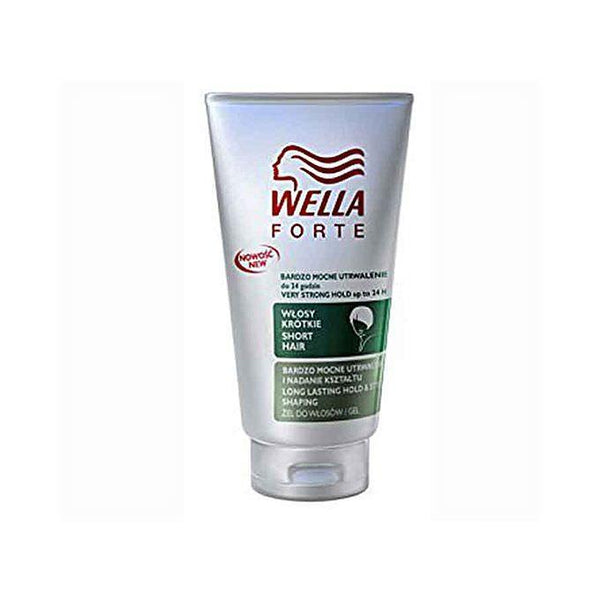 A & S Wella Forte Very Strong Hold 24 Hour Short Hair Gel Long Lasting With Tajori