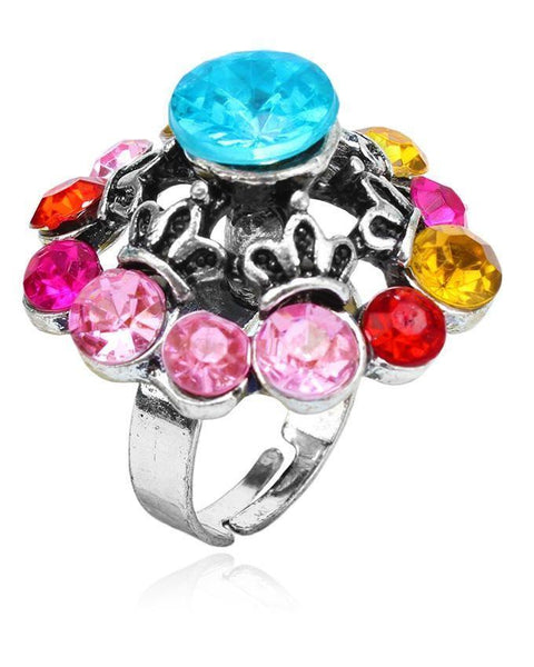 Alloy Base Multicolor Ring Tajori