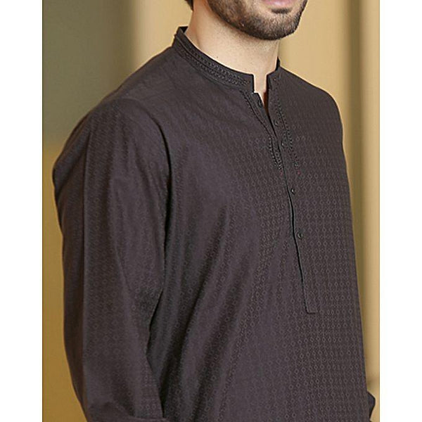 Almirah Black Cotton Kurta for Men Tajori