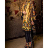 Almirah Black Khaddar L3Pc-Unsitiched Winter Collection Vol.04 Tajori
