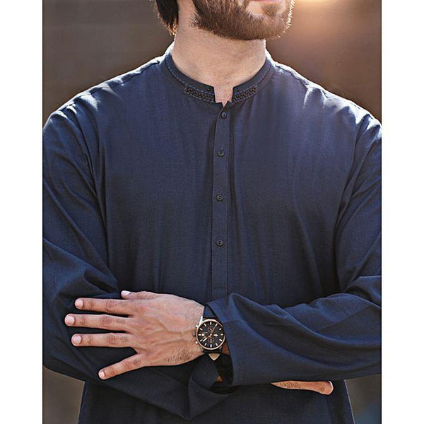 Almirah Blue Stitched Kurta for Men Winter Collection Vol.04 for Men Tajori