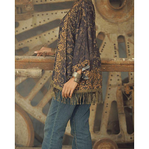 Almirah Brown Linen Stitched Kurti-Winter Collection Vol.04 for Women Tajori