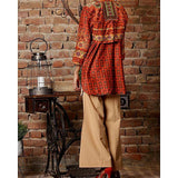Almirah CAMBRIC ORANGE Stitched Ladies Kurti AL-LK-581/AWP-079 Tajori