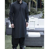Almirah Dark Green Blended Cotton Kameez Shalwar- Wasim Akram Collection Vol.04-2019 for Men Tajori