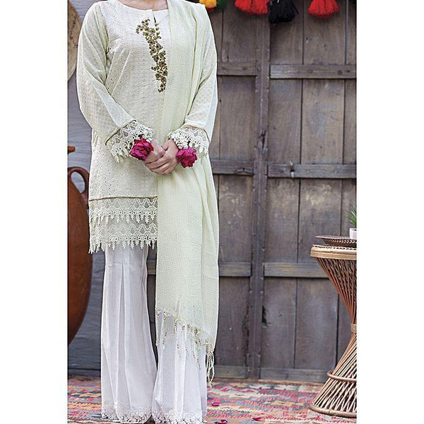 Almirah Light Green LAWN Unstitched 3Pcs for Women Tajori
