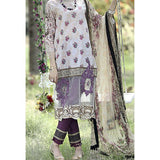 Almirah Natural Lawn Stitched Suit For Women - 3 Piece Tajori