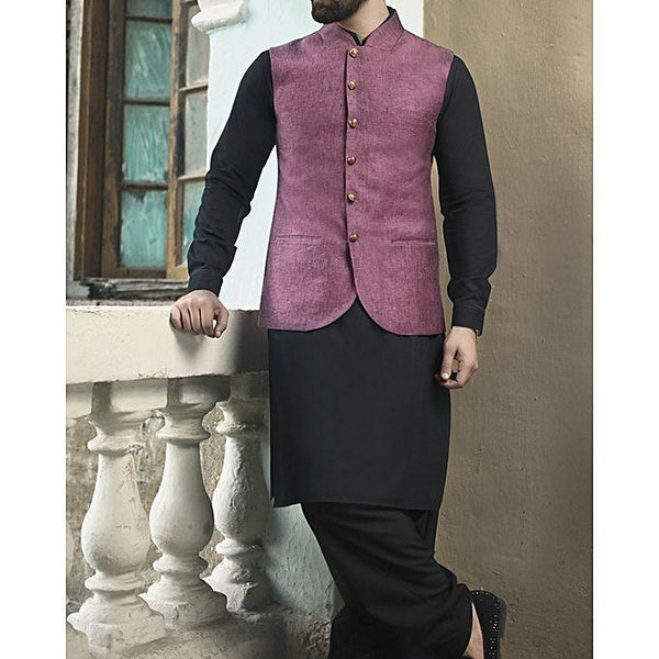 Almirah Pink BLENDED WaistCoat For Men - Spring Summer Collection Vol.01 2018 Tajori